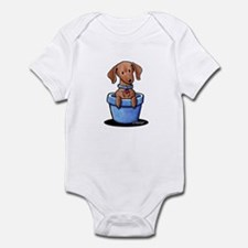 KiniArt Potted Doxie Infant Bodysuit