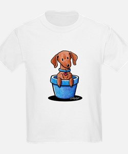 KiniArt Potted Doxie T-Shirt