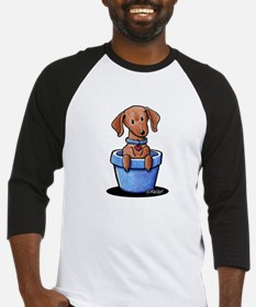KiniArt Potted Doxie Baseball Jersey