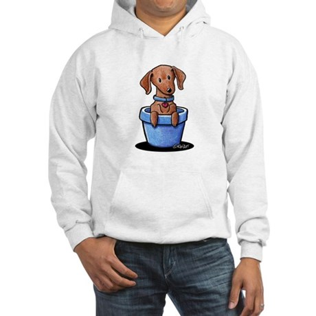 KiniArt Potted Doxie Hooded Sweatshirt