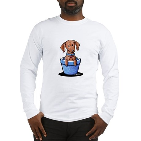 KiniArt Potted Doxie Long Sleeve T-Shirt