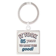85th year old birthday Square Keychain