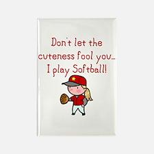 Softball Girl Rectangle Magnet