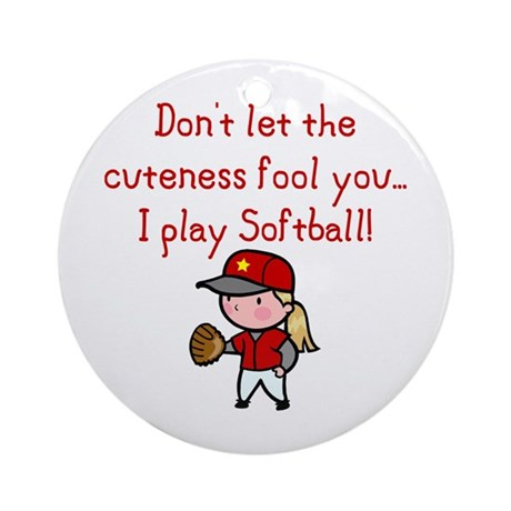 Softball Girl Ornament (Round)