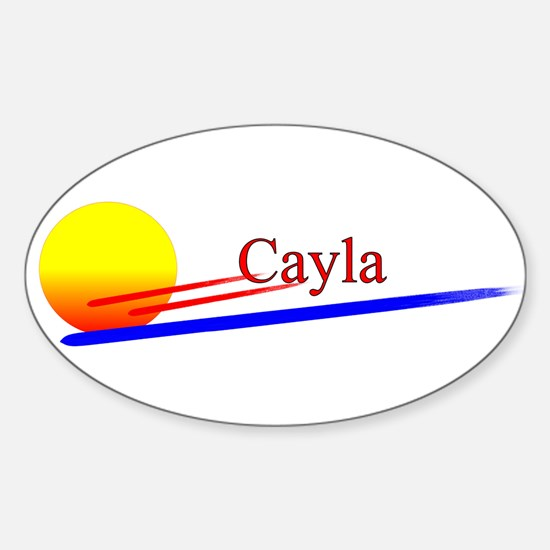Cayla Oval Decal