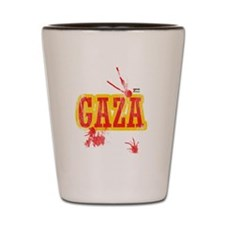Gaza blood T shirts Shot Glass