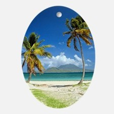St. Kitts Nevis Oval Ornament
