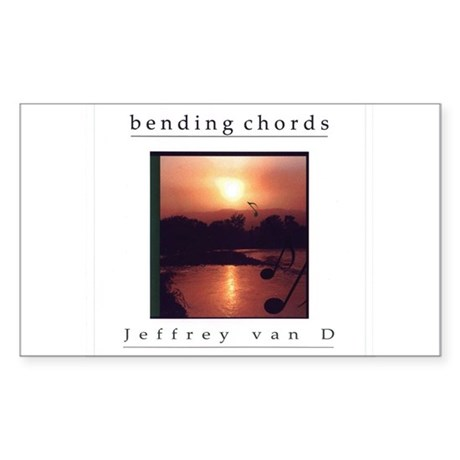 Bending Chords Rectangle Sticker