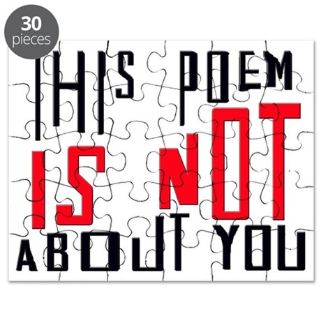 This Poem IS NOT About You Puzzle