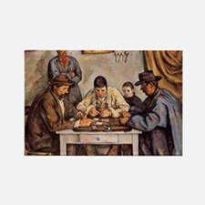 Cezanne - The Card Players (three Rectangle Magnet