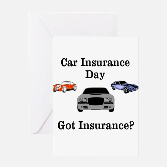 Car Insurance Day Greeting Cards