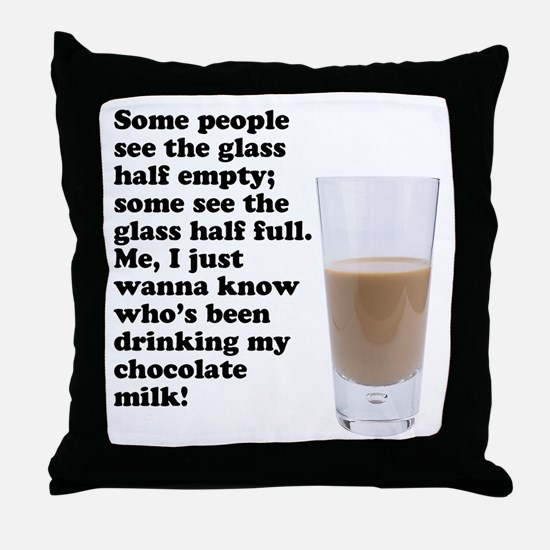Chocolate Milk Throw Pillow