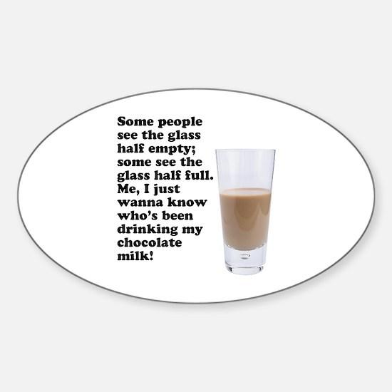 Chocolate Milk Oval Decal