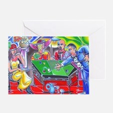 Abstract Pool Hall Greeting Card