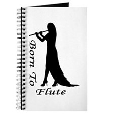 Born To Flute Silhouette Journal
