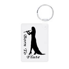 Born To Flute Silhouette Keychains