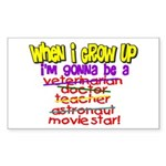 When I Grow Up Rectangle Sticker