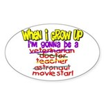 When I Grow Up Oval Sticker