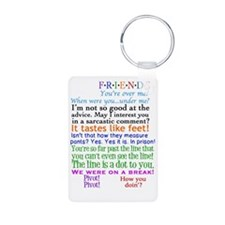 Friends TV Quotes Aluminum Photo Keychain