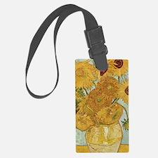 Van Gogh Sunflowers Luggage Tag