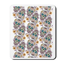Sugar Skull Halloween  White Mousepad