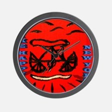 Bike Happy New York Wall Clock