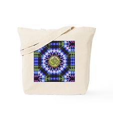 Om Symbol Blue Forest Energy Mandala Tote Bag