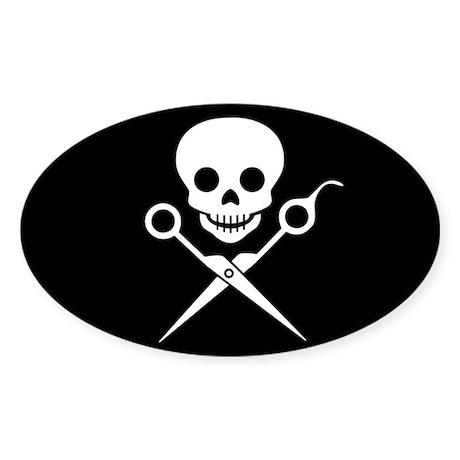 Jolly Stylist Oval Sticker