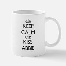 Keep Calm and kiss Abbie Mugs