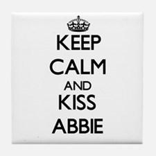 Keep Calm and kiss Abbie Tile Coaster