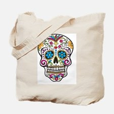 SugarSkull Halloween White Tote Bag