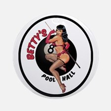 Betty's Pool Hall Round Ornament