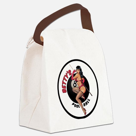 Betty's Pool Hall Canvas Lunch Bag