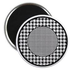 Black | White Houndstooth Pattern Magnet