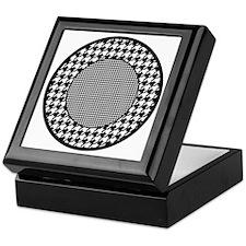 Black   White Houndstooth Pattern Keepsake Box