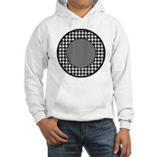 Black   White Houndstooth Patter Hoodie
