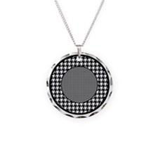 Black | White Houndstooth Pa Necklace