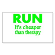 RUN..Its cheaper than therapy Decal