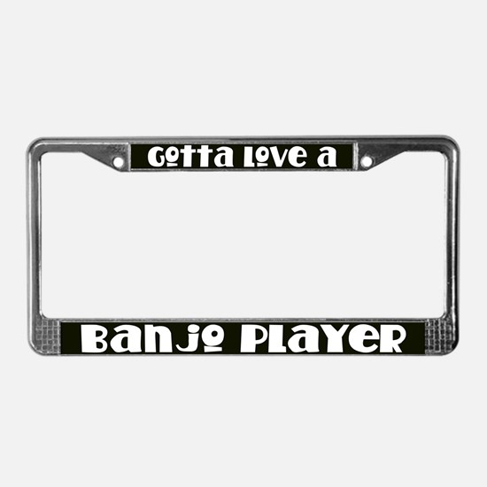 Banjo Player License Plate Frame