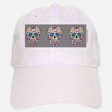 SugarSkull Halloween  Grey Baseball Baseball Cap
