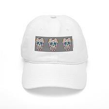 SugarSkull Halloween  Grey Baseball Cap