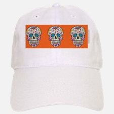 SugarSkull Halloween  Orange Baseball Baseball Cap