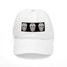 SugarSkull Halloween  Black Baseball Cap