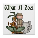 What A Zoo Tile Coaster