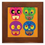 Life is short - Skulls Framed Tile