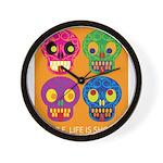 Life is short - Skulls Wall Clock