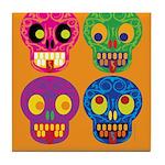 Life is short - Skulls Tile Coaster