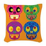 Life is short - Skulls Woven Throw Pillow