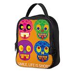 Life is short - Skulls Neoprene Lunch Bag