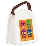 Life is short - Skulls Canvas Lunch Bag